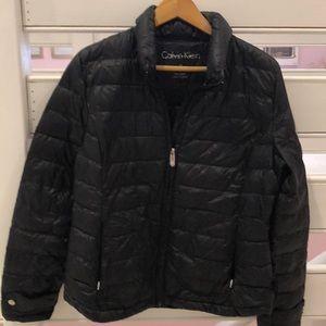 Calvin Klein black packable puffer jacket